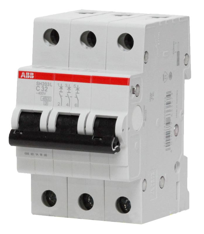 Трехполюсный автоматический выключатель ABB